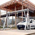 Portique de manutention en aluminium mobile