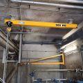 Monorail droit avec fixations par suspentes galvanisées