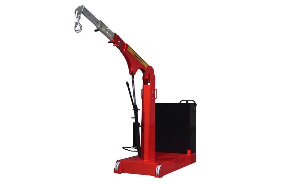 Grue d'atelier en porte à faux Hydrobull avec contrepoids et déplacement manuel ou électrique