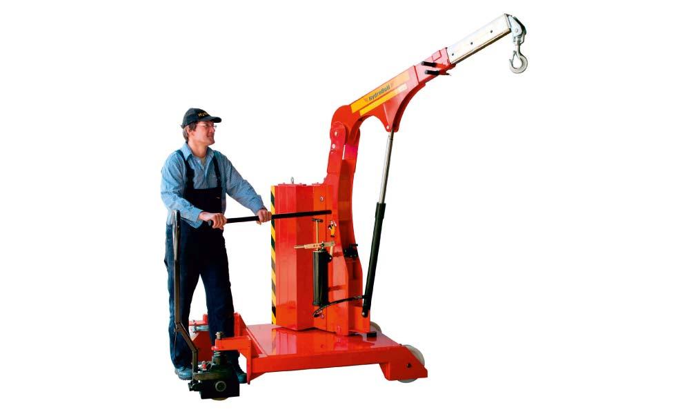 Grue d'atelier rotative Hydrobull pour levage en porte à faux en espace restreint
