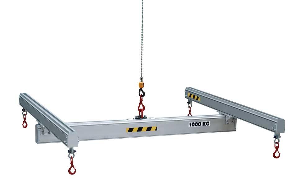 Palonnier de levage en aluminium en H réglable ou fixe