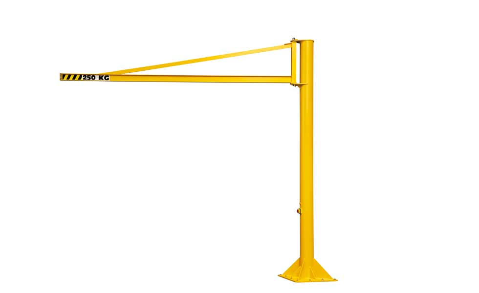 270° rotating overbraced pillar jib crane