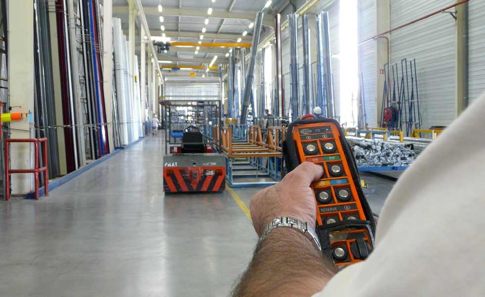 Radiocommande HBC RADIOMATIC pour pont roulant, portique, potence de levage et palan électrique