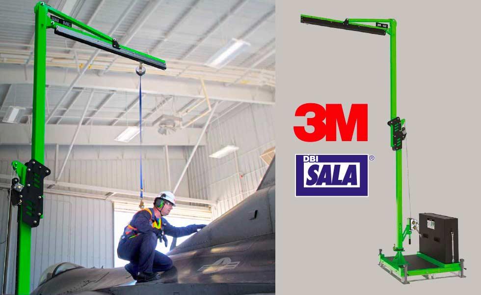 Système et structure avec potence antichute 3M DBI SALA Flexiguard serie M100 et M200