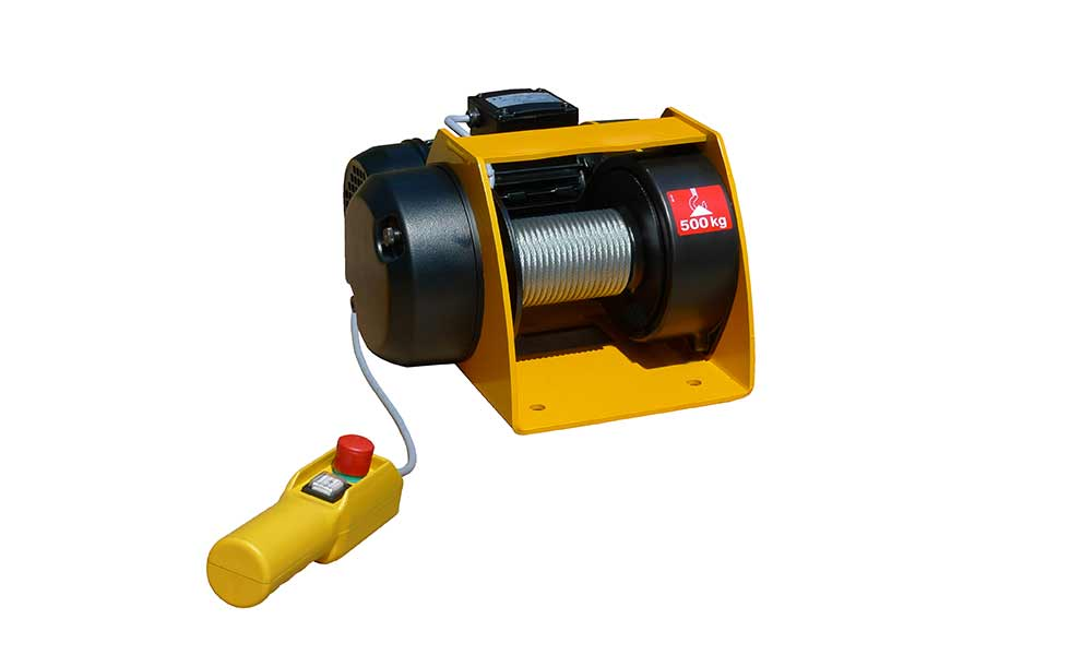 Treuil de levage électrique, pneumatique ou manuel jusqu'à 5000kg