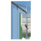 Galvanized steel lifting jib cranes
