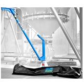 Aluminium movable lifting jib crane