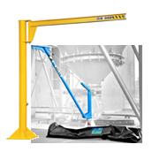 Lifting jib cranes