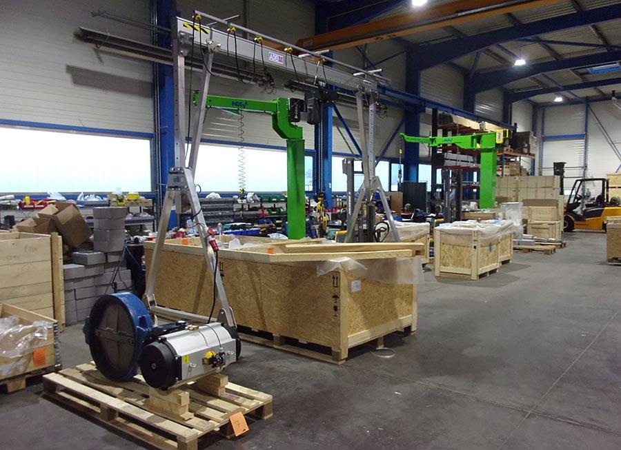 1000kg load capacity aluminium gantry crane with electric hoist
