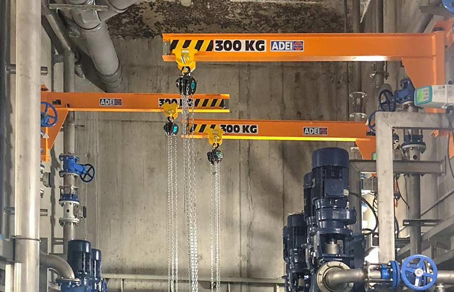 potences murales CMU 300 kg pour stations d'épuration