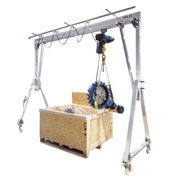 Portique aluminium mobile pour un poste de préparation à l'expédition